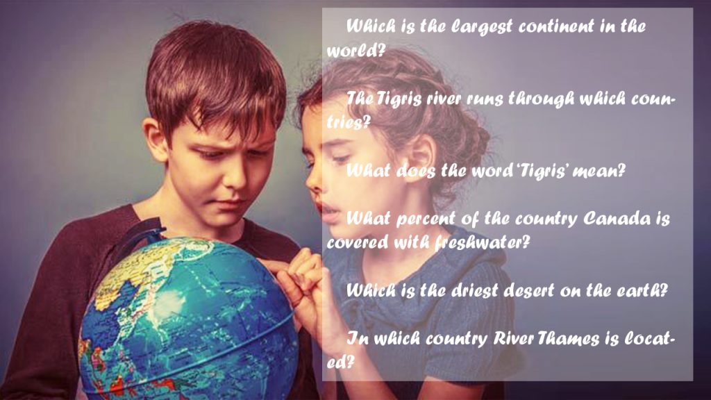easy geography questions for kids