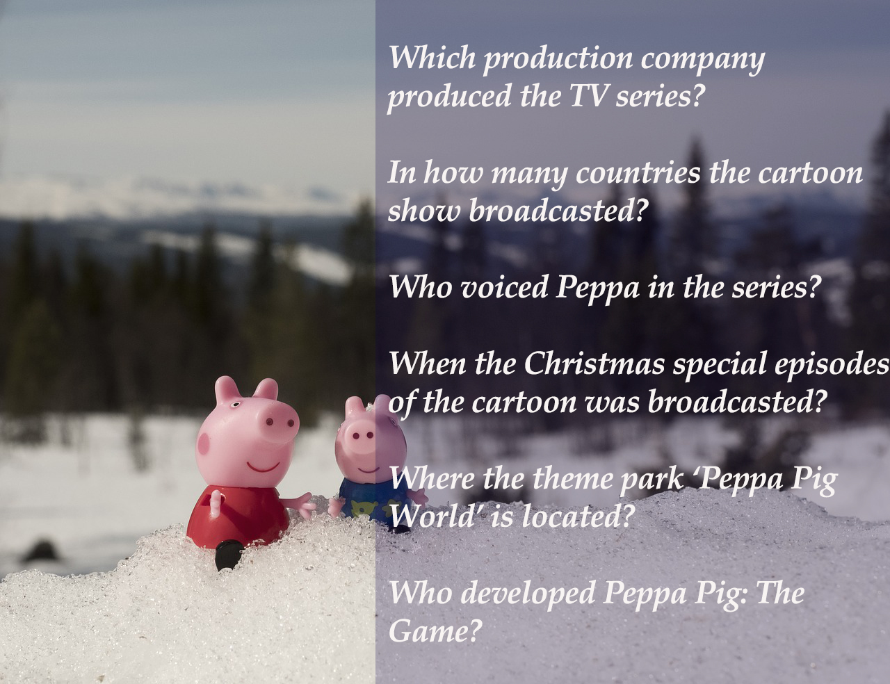 Peppa Pig Trivia for Kids